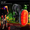 Rechargeable Safety Bike Rear Light Red Flashing LED with Belt Clip - BLACK&RED