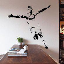DSU 55 x 75cm Vinyl Wall Stickers Decal Football Soccer Player