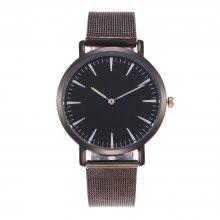 ZhouLianFa New Fashion Top Luxury Business Personality Stainless Steel Mesh Ultra-Thin Dial Quartz Watch