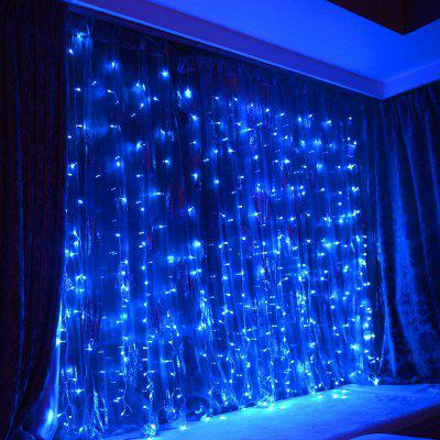 KWB LED Window Curtain Icicle Lights 300 LED String Fairy Lights 118.11 x 118.11 Inch 8 Modes White Christmas / Thanksgiving / Wedding / Party Backdrops