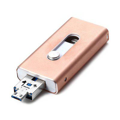 3 in 1 Retractable 8GB USB 3.0 Flash Drive