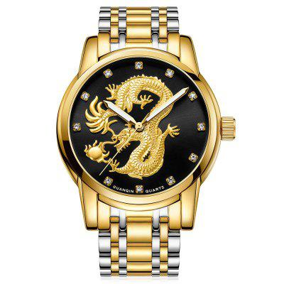 Buy GUANQIN GS19069 Men Quartz Watch, BLACK AND GOLDEN, Watches & Jewelry, Men's Watches for $26.99 in GearBest store