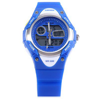 Skmei 1055 Dual Time LED Watch Waterbestendig Dag Datum Alarm Kinderhorloge