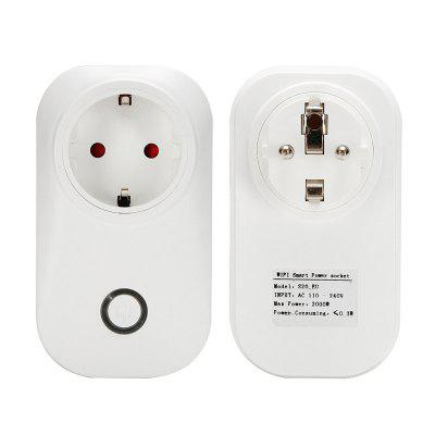 Smart WiFi Wireless Socket 10A 2200W Power Supply EU Plug for IOS / Android Phone Remote Control