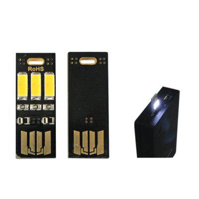 Soshine LED1 3LED USB Card Torch Pocket Outdoor Light for Mobile Power Bank Computer  -  5PCS