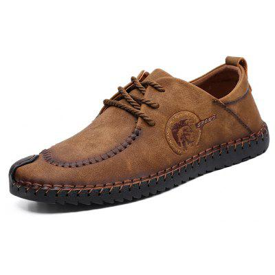 Men Retro Soft Stitching Crash Toe Oxford ShoesMen's Oxford<br>Men Retro Soft Stitching Crash Toe Oxford Shoes<br><br>Closure Type: Lace-Up<br>Contents: 1 x Pair of Shoes, 1 x Box<br>Function: Slip Resistant<br>Materials: Rubber, Microfiber Leather<br>Occasion: Tea Party, Sports, Shopping, Outdoor Clothing, Office, Party, Casual, Daily, Dress, Holiday<br>Outsole Material: Rubber<br>Package Size ( L x W x H ): 28.00 x 12.00 x 8.00 cm / 11.02 x 4.72 x 3.15 inches<br>Package weight: 0.8300 kg<br>Pattern Type: Solid<br>Product weight: 0.6800 kg<br>Seasons: Autumn,Spring<br>Style: Modern, Leisure, Fashion, Comfortable, Casual<br>Toe Shape: Round Toe<br>Type: Casual Leather Shoes<br>Upper Material: Microfiber Leather