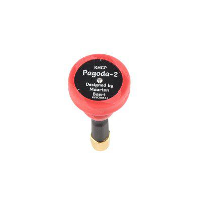 5.8G Pagoda Antenna Red Short HoleAntenna<br>5.8G Pagoda Antenna Red Short Hole<br><br>FPV Equipments: Antenna Set<br>Functions: Video<br>Package Contents: 1 x Antenna<br>Package size (L x W x H): 7.00 x 4.00 x 4.00 cm / 2.76 x 1.57 x 1.57 inches<br>Package weight: 0.0150 kg<br>Product size (L x W x H): 5.00 x 2.50 x 2.50 cm / 1.97 x 0.98 x 0.98 inches<br>Product weight: 0.0080 kg