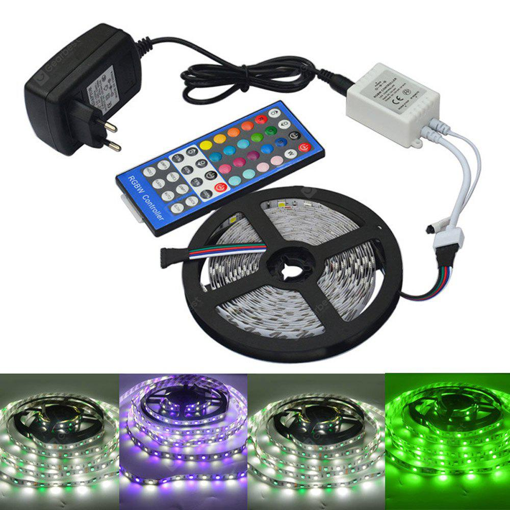 jiawen 5m 5050 rgbw led light strip remote controller 12v 2a power supply rgb white indoor. Black Bedroom Furniture Sets. Home Design Ideas