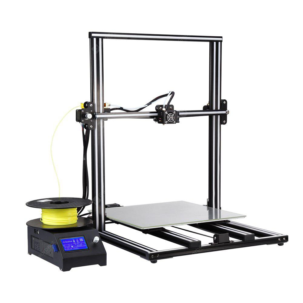 Alfawise U10 3D Printer 40 x 40 x 50cm Udskrivningsstørrelse DIY Kit - BLACK EU PLUG