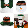 Washable Toilet Lid Cover Set Decorative Bathroom Rug Kit - COLORMIX