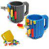Creative Funny DIY Puzzle Blocks Build-on Brick Mug Cup - YELLOW