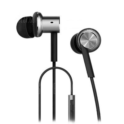 Original Xiaomi Mi IV Hybrid Dual Drivers Earphones Built-in Mic chic plus size beauty print high low hem t shirt for women