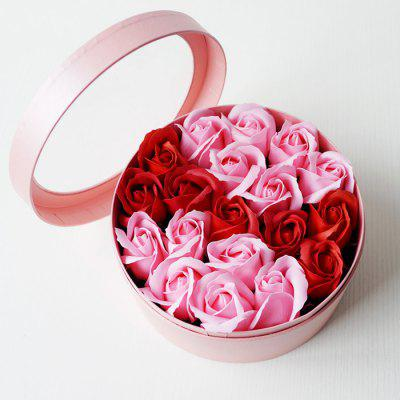 LmDec 17XZH02 Pink Soap Rose Flower in Gift Box
