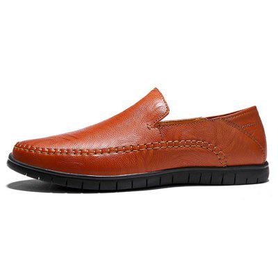 Men Nostalgic Soft Simple Casual Flat LoafersFlats &amp; Loafers<br>Men Nostalgic Soft Simple Casual Flat Loafers<br><br>Closure Type: Slip-On<br>Contents: 1 x Pair of Shoes, 1 x Box<br>Function: Slip Resistant<br>Materials: Rubber, Leather<br>Occasion: Tea Party, Party, Office, Holiday, Casual, Shopping, Daily, Dress<br>Outsole Material: Rubber<br>Package Size ( L x W x H ): 30.00 x 20.00 x 10.00 cm / 11.81 x 7.87 x 3.94 inches<br>Package weight: 0.6500 kg<br>Product weight: 0.6000 kg<br>Seasons: Autumn,Spring<br>Style: Modern, Leisure, Fashion, Comfortable, Casual, Business<br>Toe Shape: Round Toe<br>Type: Flat Shoes<br>Upper Material: Leather