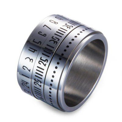 Funny Stainless Steel Rotatable Numerals Ring