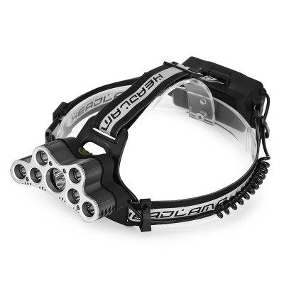 LED Headlamp USB Rechargeable 9 Lights