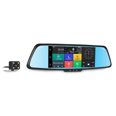 A9 Car DVR 7 inch Dual Lens GPS NavigationCar DVR<br>A9 Car DVR 7 inch Dual Lens GPS Navigation<br><br>Anti-shake: No<br>Apply To Car Brand: Universal<br>Audio format: M4A<br>Audio System: Built-in microphone/speacker (AAC)<br>Charge way: AC adapter,Car charger,USB charge by PC<br>Chipset: MTK8382<br>Decode Format: H.264, MJPEG<br>Features: Full HD<br>Function: Motion Detection, WDR, Time Stamp, Parking Monitoring, Night Vision, Loop-cycle Recording<br>GPS: Yes<br>Image Format: JPG<br>Image Sensor: CMOS<br>Internal memory: 1GB<br>Lens Size: 22mm<br>Loop-cycle Recording: Yes<br>Max External Card Supported: TF 32G (not included)<br>Model: A9<br>Motion Detection: Yes<br>Motion Detection Distance: 2m<br>Night vision: Yes<br>Night Vision Distance: 2m<br>Operating Temp.: -20 - 60Deg.C<br>Package Contents: 1 x DVR, 1 x Car Charger, 2 x Screw, 2 x Clip, 1 x English User Manual, 1 x GPS, 1 x Camera<br>Package size (L x W x H): 34.00 x 12.50 x 7.50 cm / 13.39 x 4.92 x 2.95 inches<br>Package weight: 1.0160 kg<br>Parking Monitoring: Yes<br>Power Cable Length: 1m<br>Product size (L x W x H): 31.00 x 8.00 x 3.50 cm / 12.2 x 3.15 x 1.38 inches<br>Product weight: 0.3620 kg<br>Screen resolution: 1920 x 1080 (FHD)<br>Screen size: 7inch<br>Screen type: IPS<br>Time Stamp: Yes<br>Track Log: Internal<br>Type: Car DVR with GPS<br>Video format: MOV<br>Video Frame Rate: 50MHz<br>Video Output: AV-Out<br>Video Resolution: 1080P (1920 x 1080)<br>Waterproof: No<br>Waterproof Rating: no<br>WDR: Yes<br>Wide Angle: 170 degree wide angle<br>WIFI: No<br>Working Time: work when connect with car charger<br>Working Voltage: DC 5V