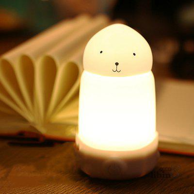 Rabbit USB Rechargeable Silicone Dimming Night Lamp