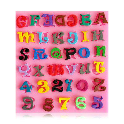 Facemile Figure Letter Style Silicone Chocolate Cake Mold