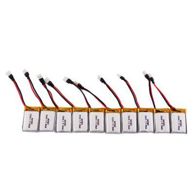 3.7V 280mAh 30C LiPo Battery for RC Drone 10pcs