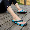 Men Cool Summer Sporty Beach Casual Flip-flops Slippers - BLACK AND BLUE