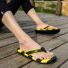 Men Cool Summer Sporty Beach Casual Flip-flops Slippers - YELLOW AND BLACK