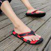 Men Cool Summer Sporty Beach Casual Flip-flops Slippers - BLACK AND RED