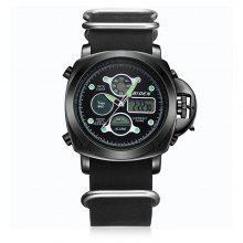 BIDEN B0018 Men Leather Band LED Watch coupons