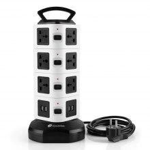 Houzetek JW104 4 Layer Vertical Power Strip