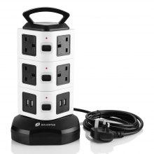 Houzetek JW103 3 Layer Vertical Power Strip
