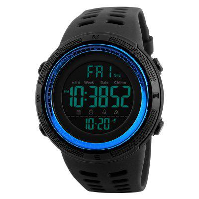 SKMEI 1251 Men Sporty Countdown Double Time Digital WatchMens Watches<br>SKMEI 1251 Men Sporty Countdown Double Time Digital Watch<br><br>Band material: PU<br>Brand: Skmei<br>Case material: PC<br>Clasp type: Pin buckle<br>Dial size: 4.9 x 4.9 x 1.5 cm<br>Display type: Digital<br>Movement type: Digital watch<br>Package Contents: 1 x Watch<br>Package size (L x W x H): 27.00 x 6.90 x 3.50 cm / 10.63 x 2.72 x 1.38 inches<br>Package weight: 0.0700 kg<br>Product size (L x W x H): 25.00 x 4.90 x 1.50 cm / 9.84 x 1.93 x 0.59 inches<br>Product weight: 0.0500 kg<br>Shape of the dial: Round<br>Special features: Stopwatch, Light, Day, Date, Alarm Clock<br>Watch style: Casual, Cool, Fashion, Trends in outdoor sports, Outdoor Sports<br>Watches categories: Men<br>Water resistance: 50 meters
