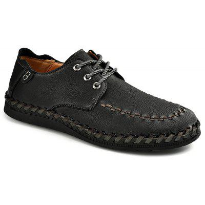 Men Retro Soft Stitching Driving Casual Oxford Shoes