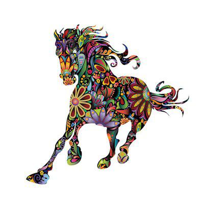 3D Ethnic Style Horse Sticker Wall Paper