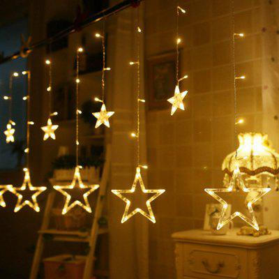 XM Waterproof Beautiful 12 Stars Shape String Lights