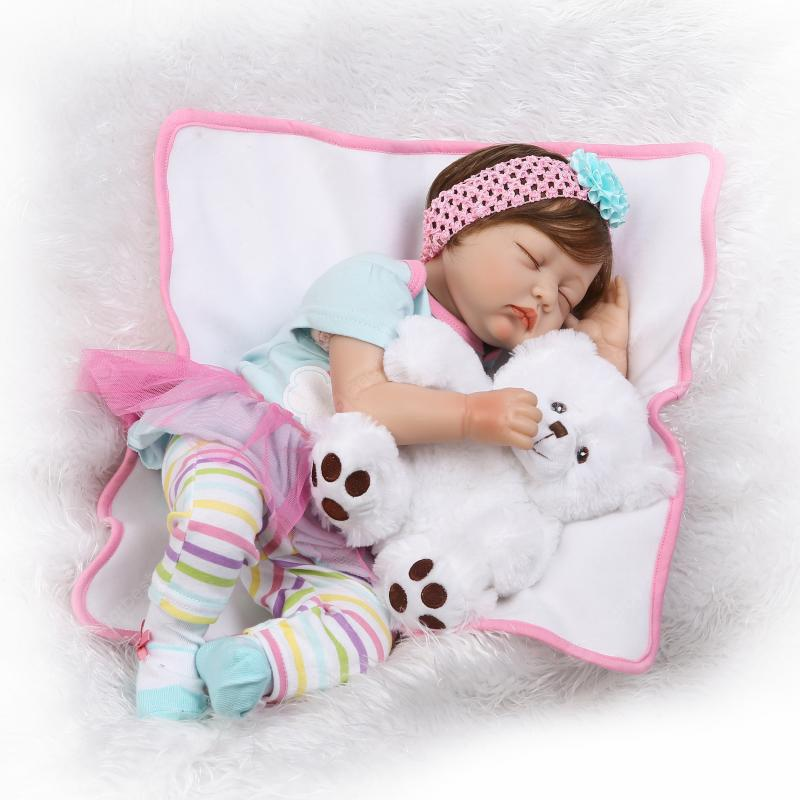 NPK Emulate Soft Reborn Nipple Baby Doll Stuffed Toy - COLORMIX