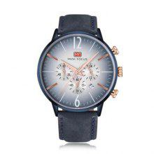 MINI FOCUS MF0114G Quartz Watch with Leather Band