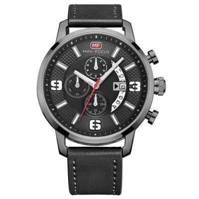 MINI FOCUS MF0025G 4296 Classic Leather Band Male Watch