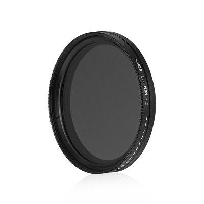 52mm Fader Variable ND Filter Adjustable ND2 to ND400Filter<br>52mm Fader Variable ND Filter Adjustable ND2 to ND400<br><br>Material of filter frame: Aviation Aluminium Material<br>Material of lens: Optical glass<br>Package Contents: 1 x 52mm ND Filter<br>Package size (L x W x H): 10.00 x 10.00 x 2.00 cm / 3.94 x 3.94 x 0.79 inches<br>Package weight: 0.0520 kg<br>Product size (L x W x H): 5.50 x 5.50 x 1.00 cm / 2.17 x 2.17 x 0.39 inches<br>Product weight: 0.0210 kg<br>Size: 52mm<br>Type: Neutral-density Filter / ND Filter