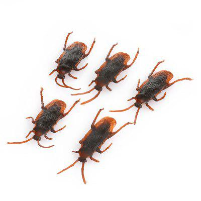 Funny Realistic Cockroach Plastic Trick Toys for April Fool\'s Day  -  5 PCs