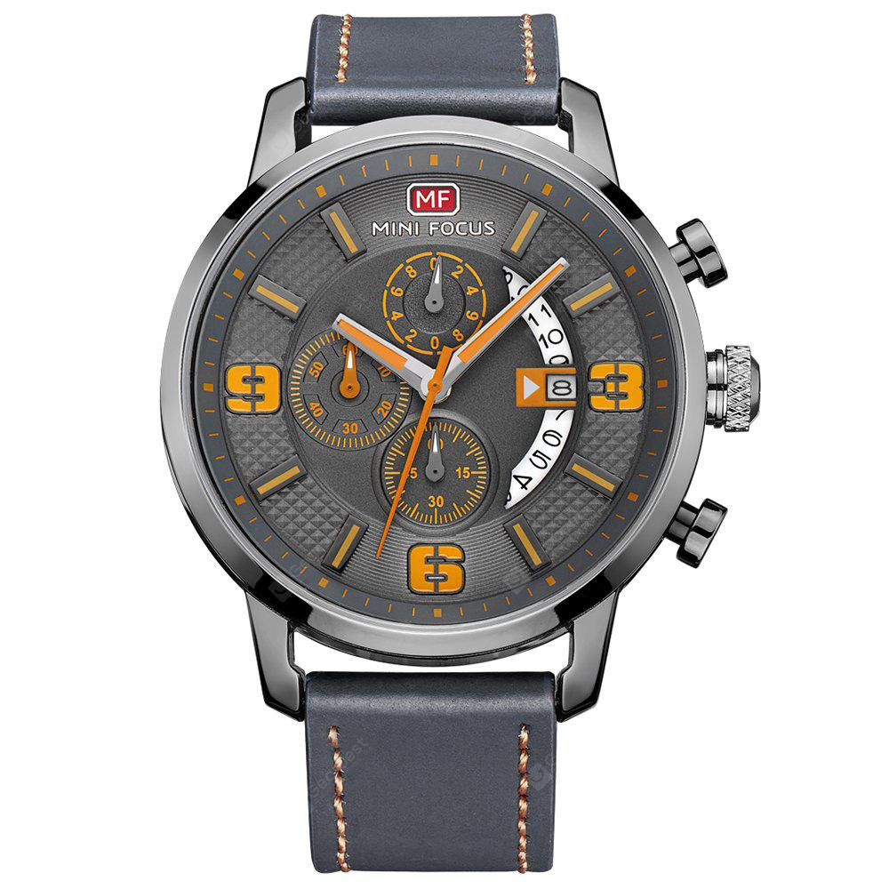 MINI FOCUS MF0025G 4296 Classic Leather Band Male Watch - $14.33 ...