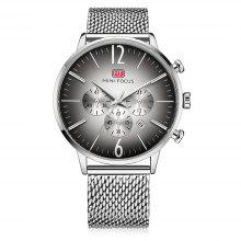 MINI FOCUS MF0114G Stainless Steel Net Band Quartz Watch