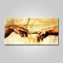 Mintura Canvas Hands Oil Painting Hanging Wall Art