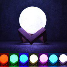 7-color Night Light Remote Control 3D Moon Shape Lamp