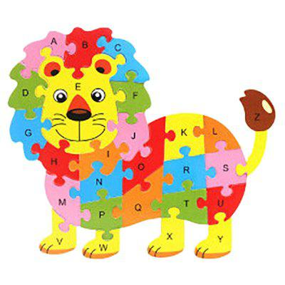 Wooden Lion Englisch Letters Puzzle Game Kit