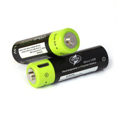 ZNTER Li-polymer AA Battery USB Charging 1.5V 1250mAh 4PCSBatteries And Cases<br>ZNTER Li-polymer AA Battery USB Charging 1.5V 1250mAh 4PCS<br><br>Battery: AA<br>Battery Type: Li-Po<br>Brand: ZNTER<br>Capacity (mAh): 1250<br>Package Contents: 4 x Battery<br>Package size (L x W x H): 12.00 x 8.50 x 1.60 cm / 4.72 x 3.35 x 0.63 inches<br>Package weight: 0.1000 kg<br>Product size (L x W x H): 5.00 x 1.40 x 1.40 cm / 1.97 x 0.55 x 0.55 inches<br>Product weight: 0.0800 kg<br>Protected: No<br>Rechargeable: Yes<br>Type: Battery<br>Voltage(V): 1.5V