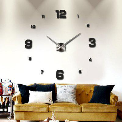 Timelike T4205 DIY Creative 3D Frameless Simple Figure Wall Clock