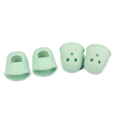 Silicone Guitar Thumb Finger Protect Cap S Size 4PCS