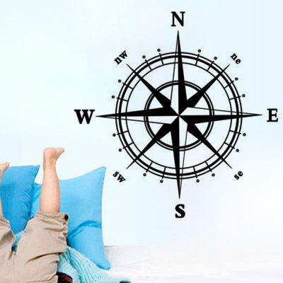 Compass Shape Home Decor StickerWall Stickers<br>Compass Shape Home Decor Sticker<br><br>Function: Decorative Wall Sticker<br>Material: Vinyl(PVC)<br>Package Contents: 1 x Sticker<br>Package size (L x W x H): 60.00 x 5.00 x 5.00 cm / 23.62 x 1.97 x 1.97 inches<br>Package weight: 0.1700 kg<br>Product size (L x W x H): 60.00 x 60.00 x 0.01 cm / 23.62 x 23.62 x 0 inches<br>Product weight: 0.1200 kg<br>Quantity: 1<br>Subjects: Others<br>Suitable Space: Boys Room,Girls Room,Kids Room,Living Room<br>Type: Plane Wall Sticker