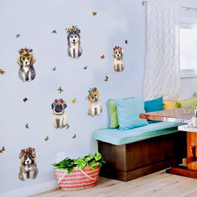 Decorative Wall Sticker Set Dog Style Mural Decals
