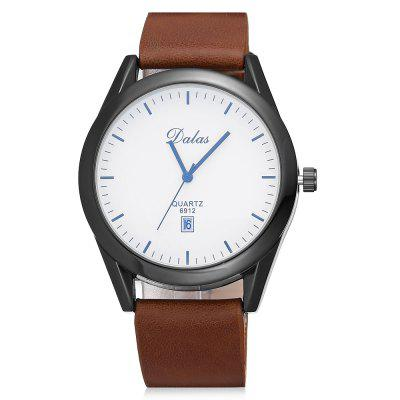 Dalas 6912 Men Nostalgic Leather Strap Quartz WatchMens Watches<br>Dalas 6912 Men Nostalgic Leather Strap Quartz Watch<br><br>Band material: Artificial leather<br>Brand: Dalas<br>Case material: Alloy<br>Clasp type: Pin buckle<br>Dial size: 4.4 x 4.4 x 1.2 cm<br>Display type: Analog<br>Movement type: Quartz watch<br>Package Contents: 1 x Watch<br>Package size (L x W x H): 27.80 x 6.40 x 3.20 cm / 10.94 x 2.52 x 1.26 inches<br>Package weight: 0.0795 kg<br>Product size (L x W x H): 25.80 x 4.40 x 1.20 cm / 10.16 x 1.73 x 0.47 inches<br>Product weight: 0.0595 kg<br>Shape of the dial: Round<br>Special features: Date<br>Watch mirror: Acrylic<br>Watch style: Casual, Business, Fashion, Retro<br>Watches categories: Men<br>Water resistance: Life water resistant
